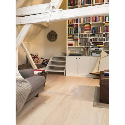 Podłoga drewniana Oak Cotton White