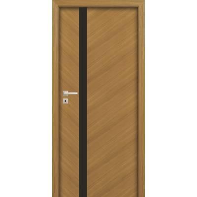Drzwi wewnętrzne Espina W01 czarna szyba