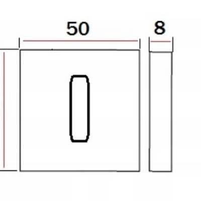 Rozeta kwadratowa Rozeta do klamki Modern Q R57 WC
