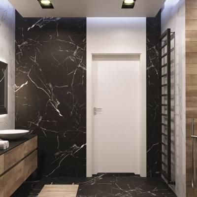 Drzwi wewnętrzne Porta DESIRE UV model 3 czarne intarsje