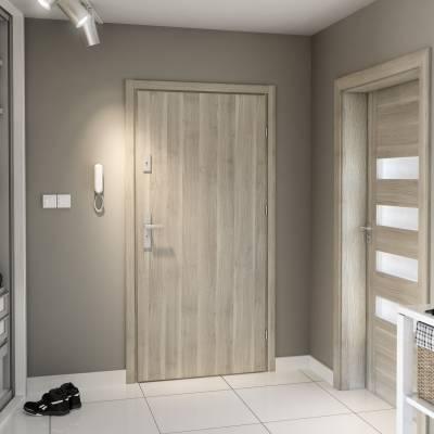 Drzwi wejściowe AGAT Plus Płaskie poziom