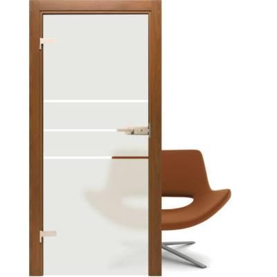 Drzwi szklane Piaskowane - Alba 3