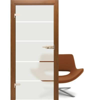 Drzwi szklane Piaskowane - Alba 4