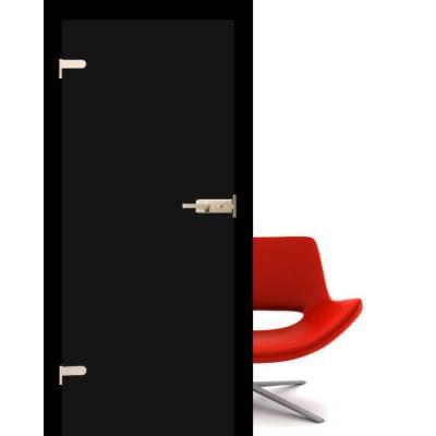 Drzwi szklane Folia black