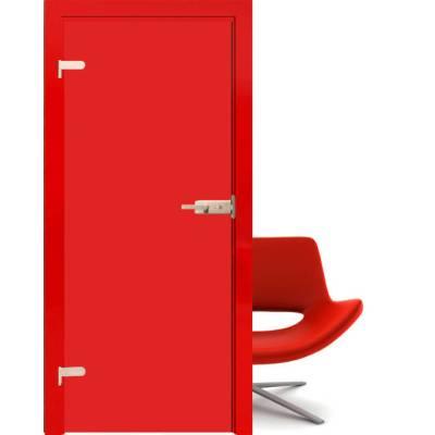Drzwi szklane Folia red