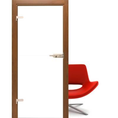 Drzwi szklane Folia white